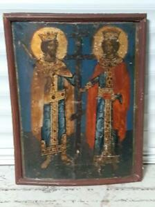 Perfect Antique of Royal portrait Icons oil on wood end of the fifteenth century $23000.00
