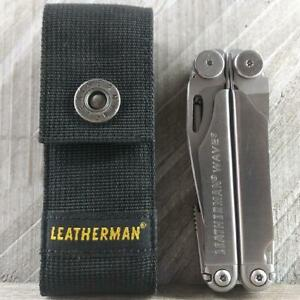 Leatherman WAVE Multi Tool Very Good Condition with Sheath Great EDC Knife