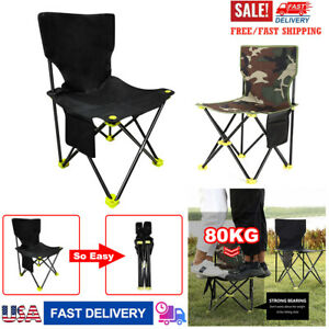 Oversized Folding Camping Chairs with Heavy Duty Lumbar Back Support 300 lbs