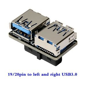 Motherboard USB3.0 19 20pin to left and right USB3.0 A female interface adapter $7.60