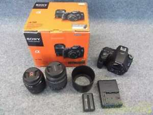 Sony Mirrorless Single Lens a58 Double Zoom Lens Kit From Japan $638.00