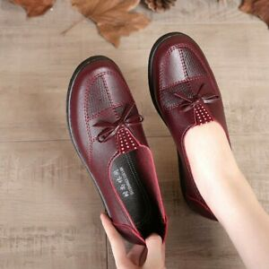 Female Trekking Leather Women Cheap Low Cut Flats Casual Loafers Leisure Shoes