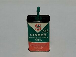 Vintage Singer Sewing Machine Oil Can 30 cents partial full #2 $8.00