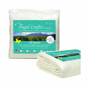 Angel Crafts and Sewing Cotton Batting for Quilts Purely Natural All Season... $60.08