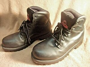 BRAHMA BOOTS BLACK BIKER STYLE BOOTS SIZE 10 1 2 W NICE USED BOOTS