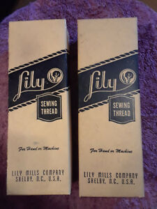 Lily Sewing Thread 12 wh 9 bl 40yds. ea. Mercerized Orig. Lily Mill Co. Boxes $79.99