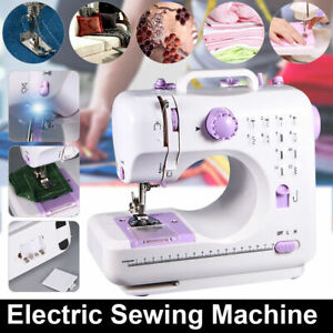 Portable Mini Electric Sewing Machine Double Speed 12 Stitches Household Tailor $47.59