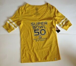 NEW NFL SUPER BOWL 50 Bay Area Football Shirt Womens Size Large NWT $34 $19.95