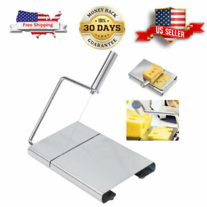 Cheese Slicer Stainless Steel Adjustable Thickness Wire Cheese Cutter Perfectly