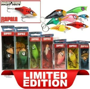 Express Ship Rapala Angry Birds Set of 7 Lures LIMITED EDITION Rapala Collector