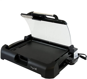 Smokeless Indoor Electric Grill 1800 Watts Non Stick Bbq Removable W Glass Lid