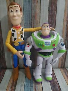Disney Pixar Toy Story Buzz Lightyear And Woody Action Figures $12.00