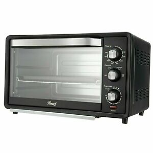 """6 Slice Toaster Oven 19L Countertop Bake Broil Toast 12"""" Pizza"""