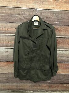 Vintage 1980 French Military Army Jacket Fatigue Uniform Green $39.95