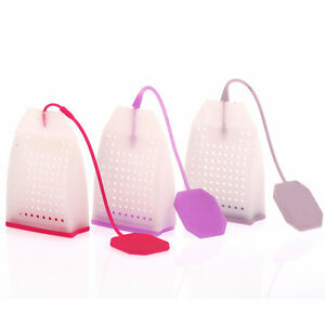Bag Style Silicone Tea Strainer Herbal Spice Infuser Filter Diffuser Kitche`CA