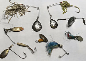 Vintage Spinner fishing lure parts lot #F476