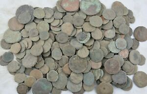 LOT OF 10 Uncleaned Ancient Roman Coins Constantine the Great Era 330 AD $29.95