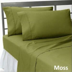 Glorious Linen Collection Moss 1000 TC Egyptian Cotton Select US Size Item