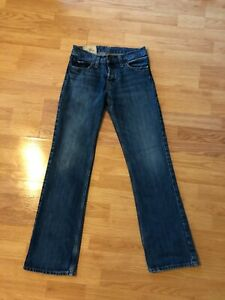 HOLLISTER Mens Size 28x30 Skinny Jeans Button Fly Boomer Low Rise Slim Boot $21.99