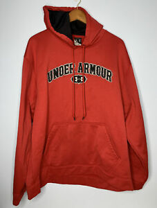Under Armour Hoodie Mens Sz 2XL Red LS Embroidered Logo Athletic Pullover $39.99