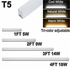 Dimmable T5 LED Shop Light 1FT 4FT Linkable Ceiling Tube Fixture Daylight Lamp