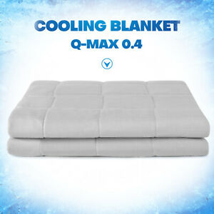Lightweight Summer Cooling Blanket Breathable Q Max 0.4 Double Sided Queen King