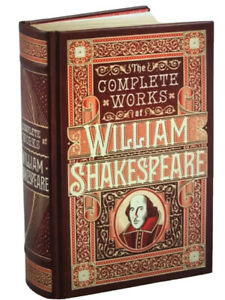 ❤️The Complete Works of William Shakespeare Leather Bound Collectible NEW