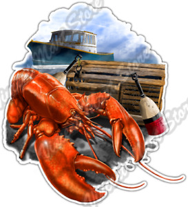 Lobster Catch Fishing Catching Food Seafood Car Bumper Vinyl Sticker Decal 4quot;X5quot;
