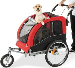 Best Choice Products 2 in 1 Pet Stroller and Trailer Red