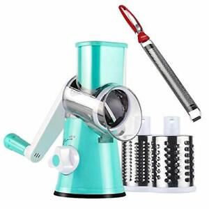 Ourokhome Cheese Grater Lemon Zester Rotary Madoline Slicer and Stainless S...