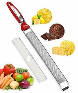 Ourokhome Cheese Grater Lemon Zester Long Stainless Steel Zester for Parmes...