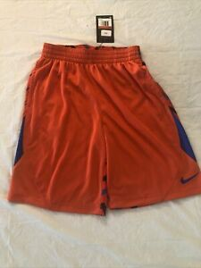 Nike Dri fit shorts Boys size Large New with tag orange with accents $19.99