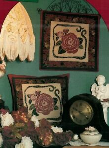 Victorian Rose Sewing Wall Quilt Pattern amp; Pillow Rose Blossoms and petals $10.99