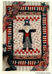Yankee Sam Sewing Wall Quilt Pattern Patriotic Fourth of July Flag $10.99