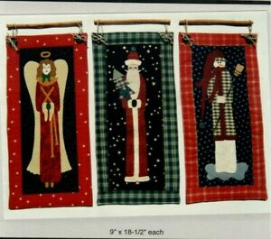 Tall Friends Sewing Wall Quilt Pattern Christmas Angel Santa amp; Snowman Separate $10.99
