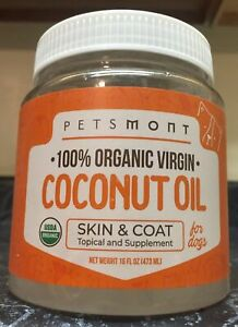 Petsmont 100% Organic Virgin Coconut Oil for Dogs Skin and Coat EXP11 22