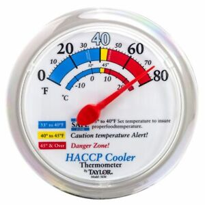 Taylor Precision 5636 6 Dial Cooler Freezer Thermometer