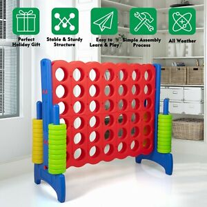 Jumbo 4 to Score Game Set 4 in A Row Giant Game Connect Family Indoor Outdoor