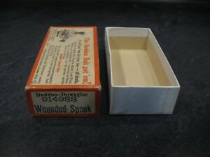 HEDDON 9149SS BRUSH BOX only WOUNDED SPOOK quot;SILVER FLITTERquot; Fishing Lure Bait