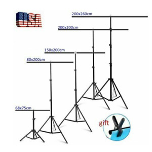 Selens Adjustable T Shape Backdrop Stand Kit Background Support System w Clamp $29.56