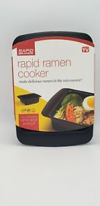 Rapid Ramen Cooker Microwave in 3 Minutes Black As Seen On TV Brand New