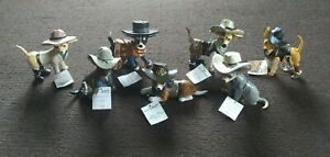 Lot of 7 Spurs N Fur Chihuahua Cowboys Collection COAs Hamilton Collection