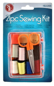 21 Piece Sewing Kit Travel With Box Emergency Travel office sewing kit $6.88
