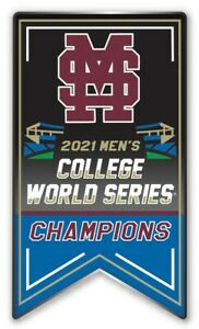 2021 NCAA MISSISSIPPI STATE COLLEGE WORLD SERIES CHAMPIONS PIN BULLDOGS CHAMPS $11.89