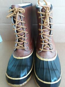 WearGuard boots men#x27;s 10 Duck Rain Hunting Thinsulate Leather Rubber