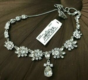 $150 Givenchy silver tone crystal statement necklace Stunning $89.99