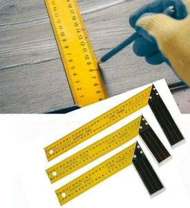 90 Degree Woodworking Carpenter Angle Ruler Measuring Square Angle 250mm 350mm $17.16