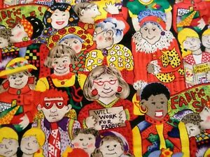 Vintage Mary Lou Weidman In The Beginning Fabrics The Quilting Ladies Fabric $28.00