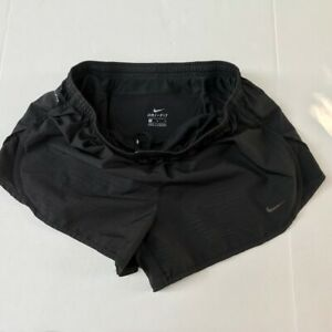 Nike Dri Fit Running Shorts Black With Liner Workout Exercise Size Medium $19.00