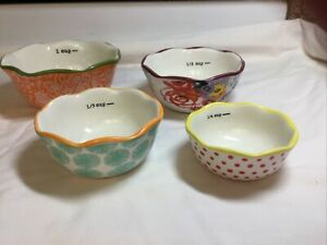 The Pioneer Woman Nesting Measuring Bowl Set 4 piece Lot EXCELLENT CONDITION